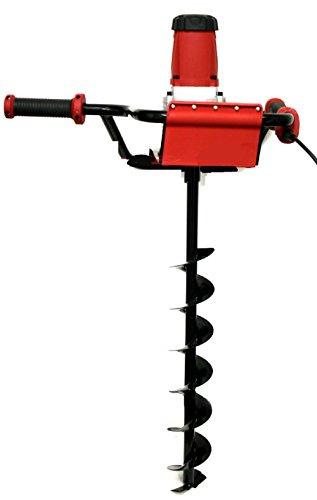 "Electric Post Hole Digger 1200W Watt Motor 1.6 Hp W/ 4"" Inch Auger Drill Bit New"