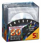 Memorex Crystal 80-Minute Minidisc Media (5-Pack with Cases)