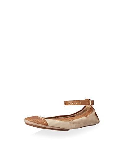Yosi Samra Women's Abbey Ballet Flat with Ankle Strap