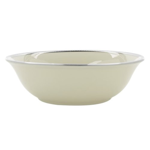 Lenox Tuxedo Platinum Ivory China Fruit Bowl