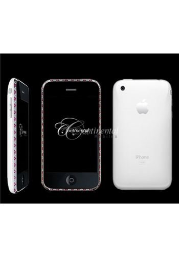 iPhone 3G 16GB White - Rubies and Diamonds Luxury Mobile Phone