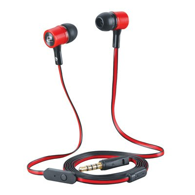 Beat & Kick Universl Handsfree Super Bass Stereo Earbud Headphones With Microphone For Tablets, Smart Phones, Mp3 Players, Cell Phones, S3/S4 Portable Gaming (Red Black)