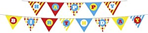 Party Partners Design Retro Sweet Soiree Themed Happy Birthday Banner Set, Pink/Orange by Party Partners Design