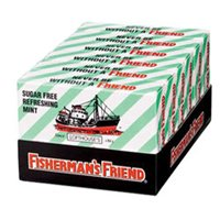 Fishermans Friend Cough Drop Sugar Free Mint - 38 / Box, 6 Boxes