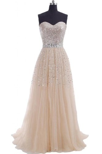 Hi Girls Exquisite Sweetheart Tulle Long Prom Dresses 2014