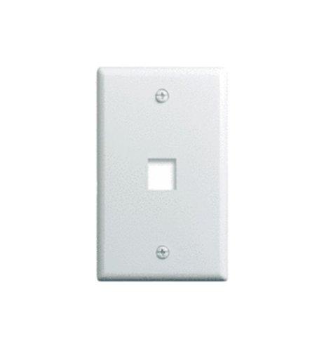 Onq / Legrand Wp3401Wh 1Gang, 1Port Wall Plate, White