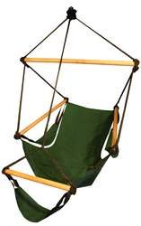 Hammock Chair Forest Green/Wood