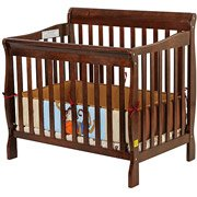 Dream On Me Aden 3-In-1 Fixed-Side Convertible Mini Crib, Espresso front-1040046