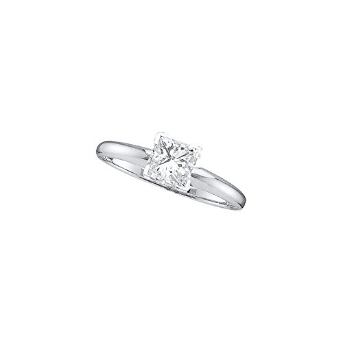 0.20CTW PRINCESS CUT SOLITAIRE DIAMOND RING (EXE)