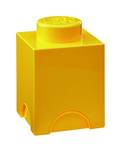 Lego 40011732 - Caja en forma de bloque de lego 1, color amarillo [importado de Alemania]