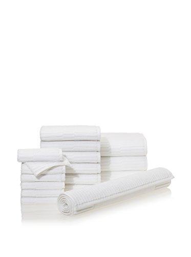 Chortex Oxford 16 Piece Towel Set, Almond