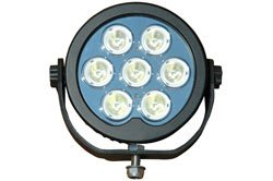 Infrared Led Light Emitter - 7, 3-Watt Ir Leds - 9-48 Volts Dc - Ip68 - Pwm Circuitry(-Black-Spot-7