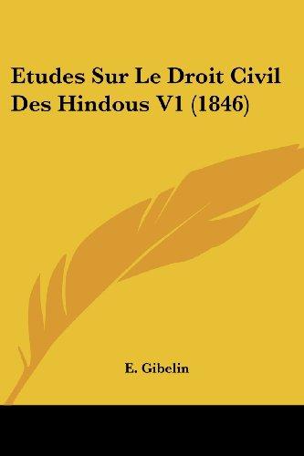 Etudes Sur Le Droit Civil Des Hindous V1 (1846)