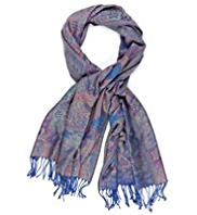 M&S Collection Folk Jacquard Scarf