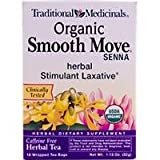 Traditional Medicinals, Organic Smooth Move Senna, 1.13 oz (32 g), 16 Wrapped Tea Bags