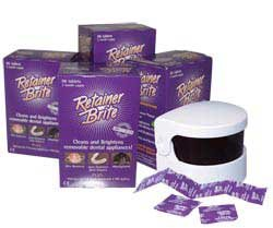 Retainer Brite Cleaning Tablets 1 year Supply + Sonic Cleaner