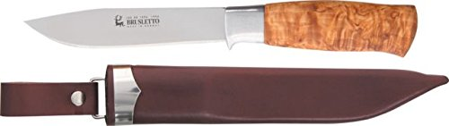 Brusletto Hunter Curly Birch Knife with Sheath