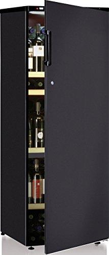 Cave à vin de service - 2 temp. - 160 bouteilles - Noir - CALICE - ACI-CAL106 - Pose libre