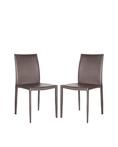 Safavieh Set of 2 Karna Dining Chairs, Brown