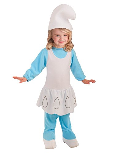 The Smurfs Toddler Girls Blue Smurfette Costume With Smurf Hat 2T-4T