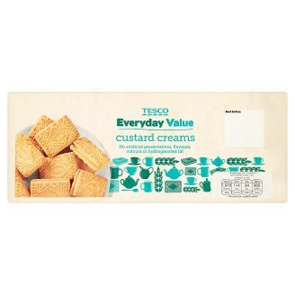 tesco-everyday-value-custard-cream-biscuit-snack-crackers-wafer-400g-by-thaidd