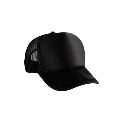 Blank Plain Mesh Trucker Hat/ Cap Baseball   Black