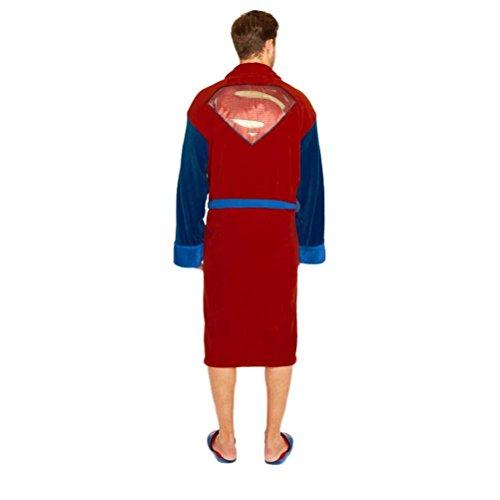 V ufficiale di Batman Logo del Superman accappatoio adulto vestaglia in pile - taglia unica