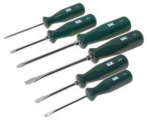 SK Hand Tool 86326 Sure Grip Auto Screwdriver Set, 6-Piece