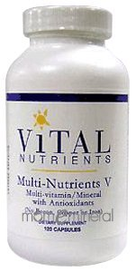 Multi-Nutrients V 120 Capsules by Vital Nutrients