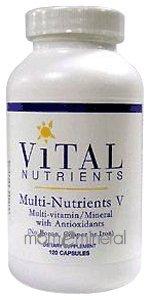 Multi-Nutrients V 120 Capsules by Vital Nutrients
