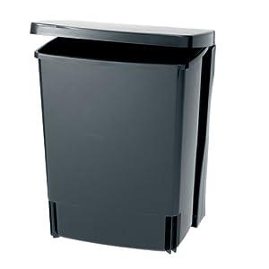 poubelle cuisine brabantia 395246 poubelle de placard rectangulaire 10 l noir. Black Bedroom Furniture Sets. Home Design Ideas