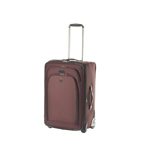 Travelpro Luggage Platinum Expandable Rollaboard Suiter with Patented Padded Foam Bar, Plum, One Size best deal