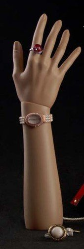 Brand New Free Standing Realistic Female Mannequin Right Hand Jewelry Display Flesh Tone (D4)