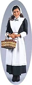 California Costume Pilgrim Woman Costume Dress (Basket not included)