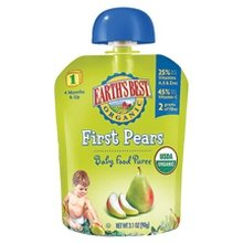 Earth'S Best First Pears Puree (2X6X3.1Oz) front-970966