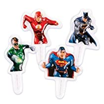 Justice League Super Hero Cupcake Picks - 12ct