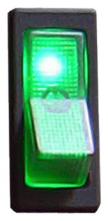 Keep It Clean Sw27G Green 20 Amp/12V Illuminated Rocker Switch 1