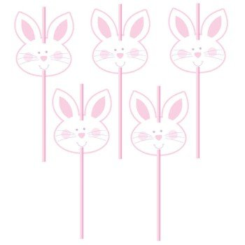 Easter Bunny Face Straws