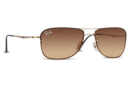 Ray Ban RB8052 Tech Sunglasses-157/13 Sand Shiny Gold (Brown Gradient Lens)-61mm