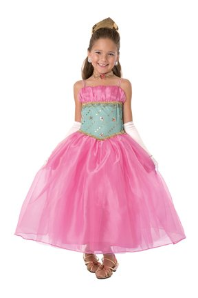 Girls Stunning Hot Pink/Turquoise Princess Costume Ball Gown