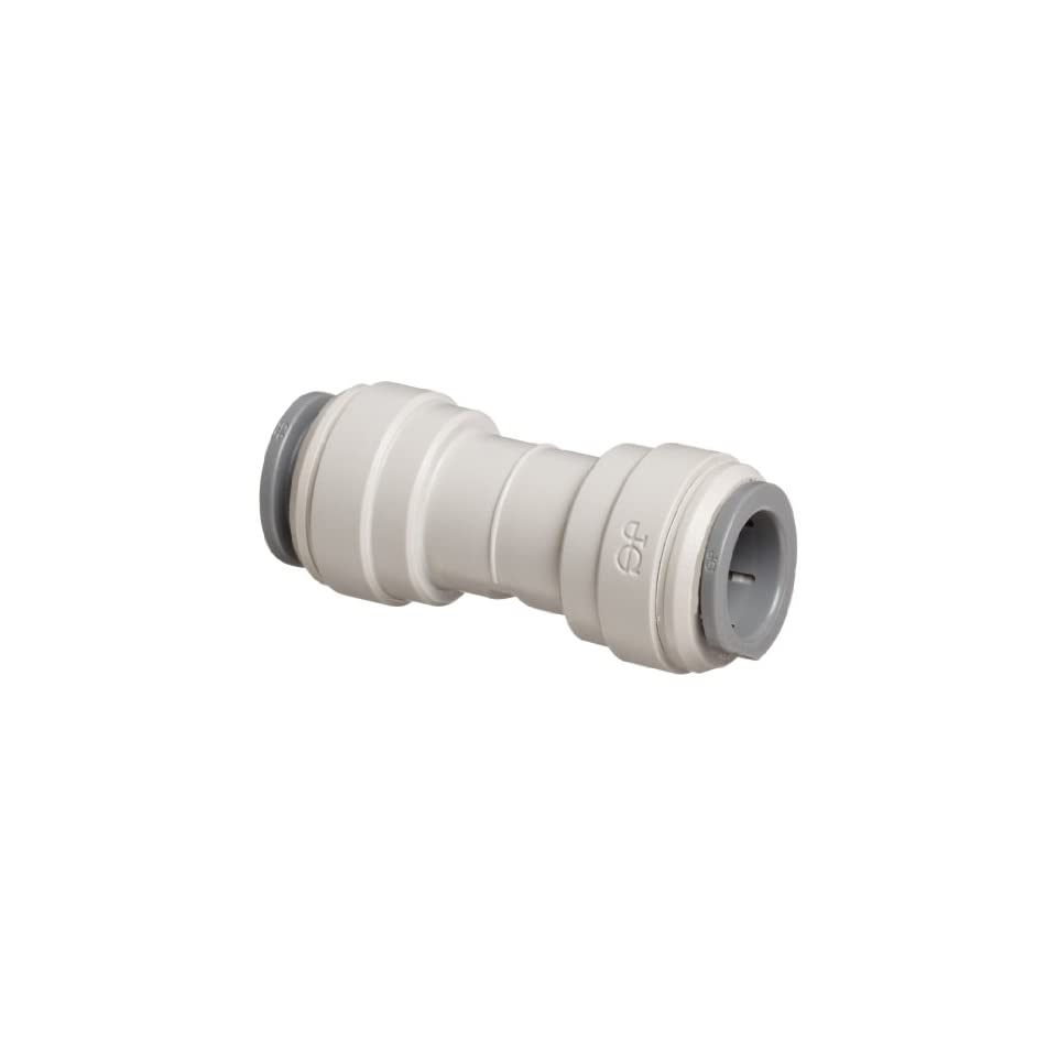 John Guest Acetal Copolymer Tube Fitting, Union Straight Connector, 3/8 Tube OD (Pack of 10)