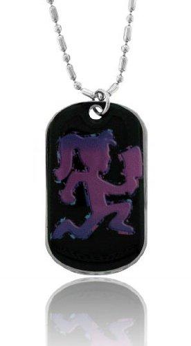 Hatchetgirl Hatchetman - Coated Dog Tag Necklace-With Free Chain