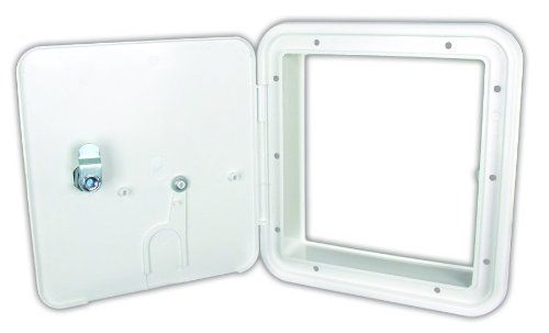 JR Products 22132-A Polar White Large 30/50 Amp Key Lock Electric Cable Hatch (Rv Storage Door compare prices)
