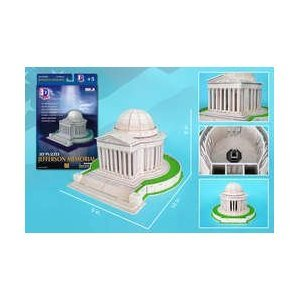 Daron Jefferson Memorial 3D Puzzle, 35-Piece