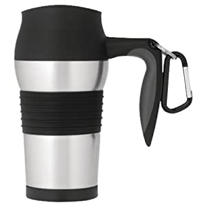 Thermos Nissan Jmq400p 14-Oz Stainless Steel Vacuum Insulated Leak-Proof Travel Mug With Carabiner