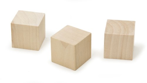 Darice 9112-53 Natural Unfinished Wood Cube, 1-1/4-Inch
