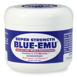 Buy Blue-Emu-Super Strength Emu Oil, 4oz (Blue Emu, Health & Personal Care, Products, Health Care, Pain Relievers, Rubs & Ointments)