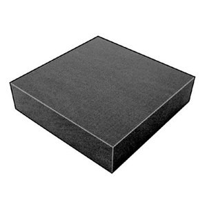 Foam Sheet, 300135Poly, Charcoal, 3/4x12x12