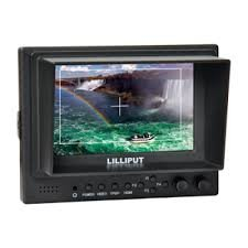 Lilliput 569gl-50np/h/y 5″ On-camera Hd LCD Field Monitor w/ Hdmi in Component in Video in Video Out +Shoe Mount+du21 Battery and Charger