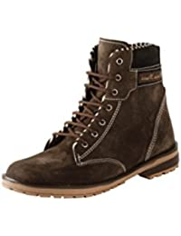 BACCA BUCCI MEN BROWN SUEDE LEATHER BOOTS